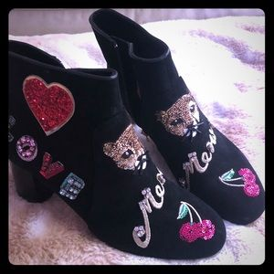 Kate Spade Liverpool Meow Suede Boots